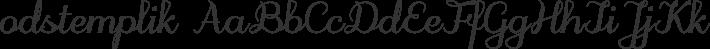 odstemplik font family by GLUK fonts