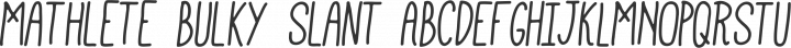 Mathlete Bulky Slant free font