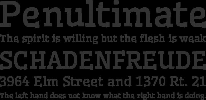 Wellfleet Font Phrases