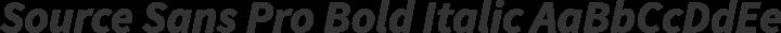 Source Sans Pro Bold Italic free font