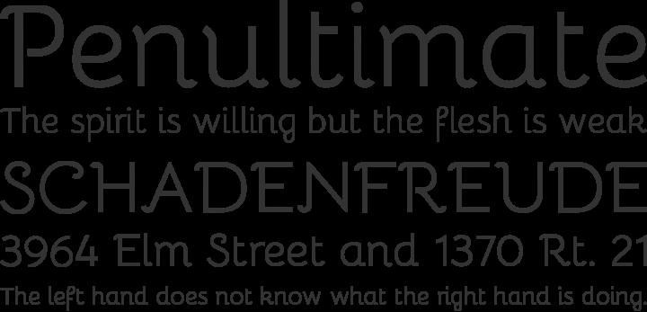 Bellota Font Phrases