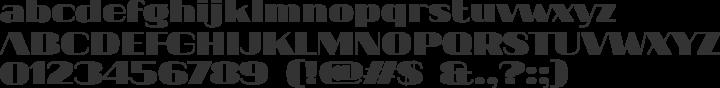 20db Font Specimen