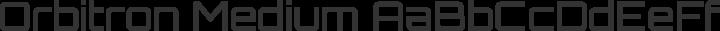 Orbitron Medium free font