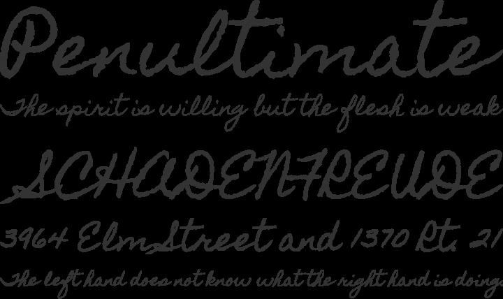 Homemade Apple Font Phrases