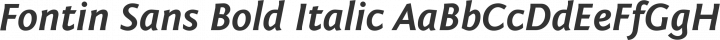 Fontin Sans Bold Italic free font