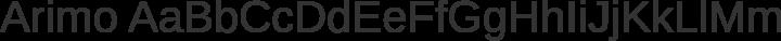 Arimo Regular free font