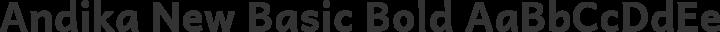 Andika New Basic Bold free font