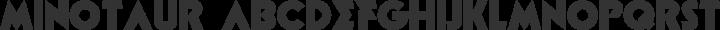 Minotaur Phatte free font