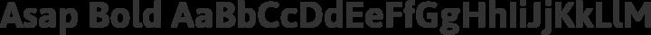Asap Bold free font