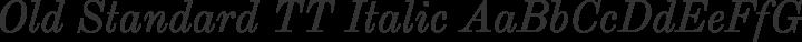 Old Standard TT Italic free font