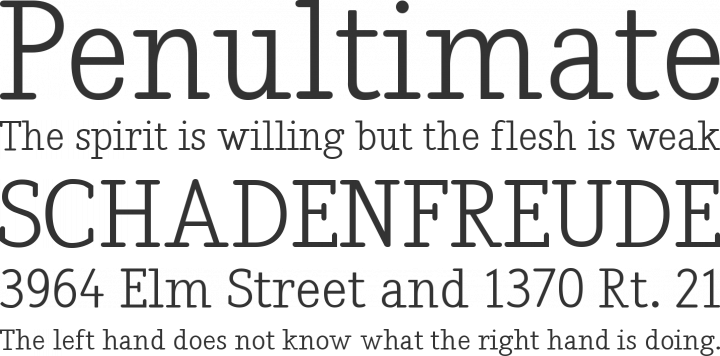 Nadia Serif Font Phrases
