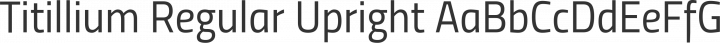 Titillium Regular Upright free font