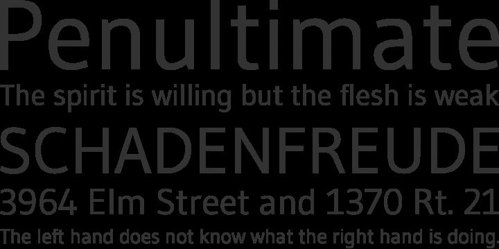 Gudea Font Phrases