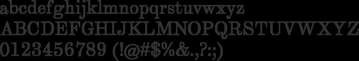 Theano Modern Font Specimen