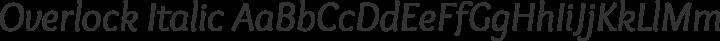 Overlock Italic free font