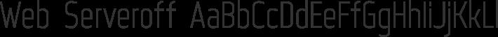 Web Serveroff font family by Web Hosting Geeks