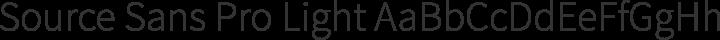 Source Sans Pro Light free font