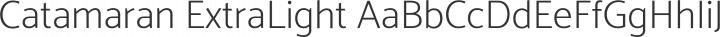 Catamaran ExtraLight free font
