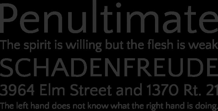 Quattrocento Sans Font Phrases