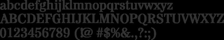 Stardos Stencil Font Specimen