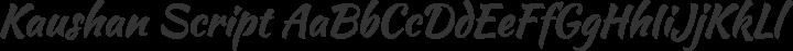 Kaushan Script Regular free font