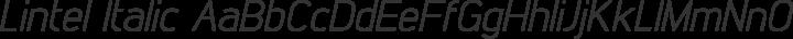 Lintel Italic free font
