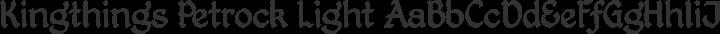 Kingthings Petrock Light Regular free font
