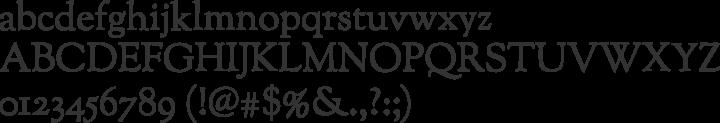 Sorts Mill Goudy Font Specimen