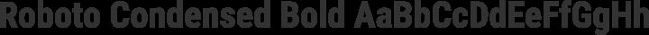 Roboto Condensed Bold free font