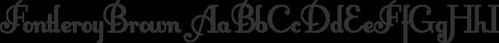 FontleroyBrown Regular free font