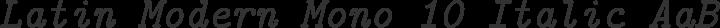 Latin Modern Mono 10 Italic free font