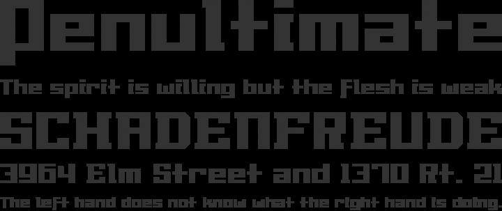 Millennia Font Phrases