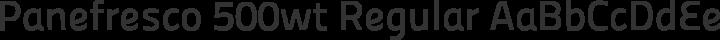 Panefresco 500wt Regular free font