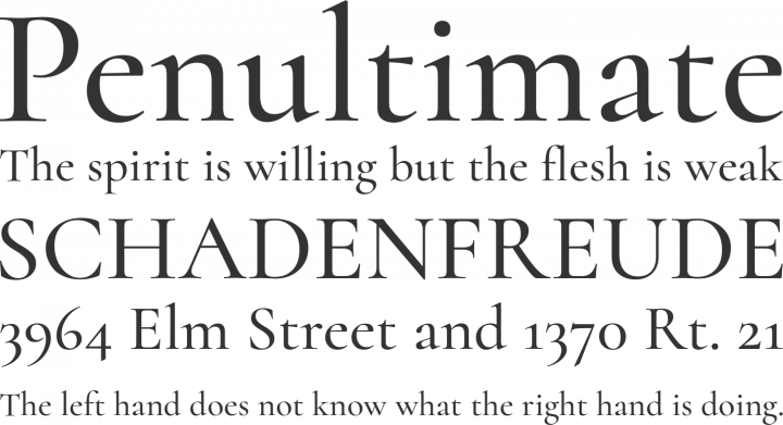 Cormorant Font Phrases