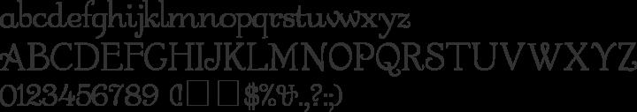 Garton Font Specimen