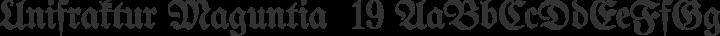 Unifraktur Maguntia  19 free font
