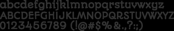 Autour One Font Specimen