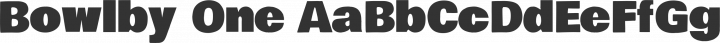 Bowlby One Regular free font