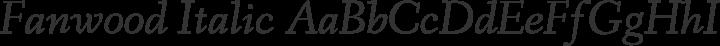 Fanwood Italic free font