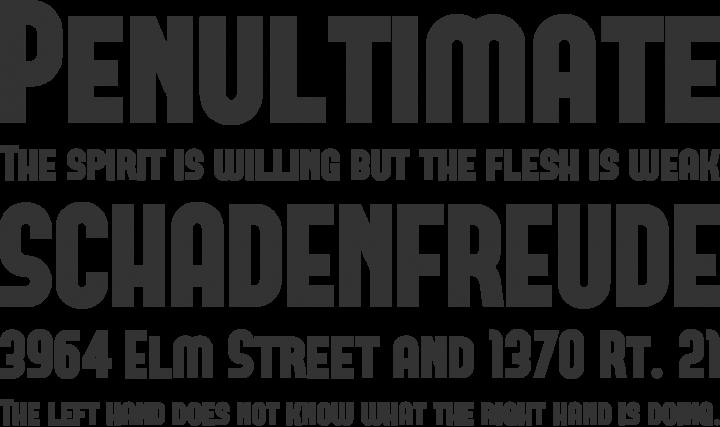 Forque Font Phrases