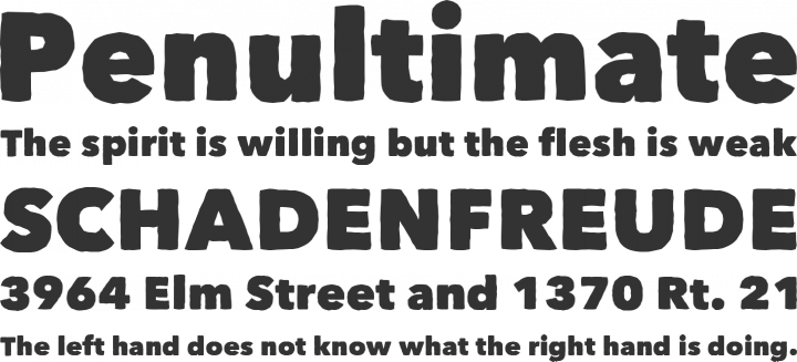 Matiz Font Phrases