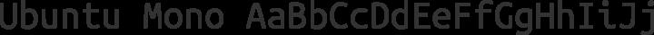 Ubuntu Mono Regular free font
