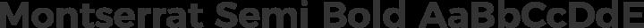 Montserrat Semi Bold free font