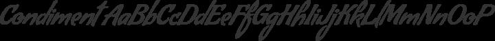 Condiment Regular free font