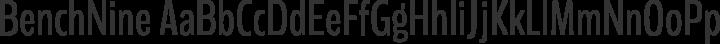 BenchNine Regular free font