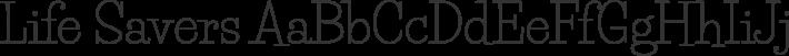 Life Savers font family by Impallari Type