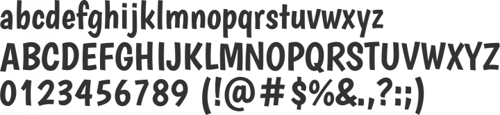 Boogaloo Font Specimen