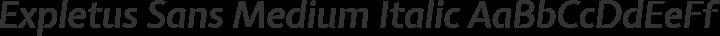 Expletus Sans Medium Italic free font