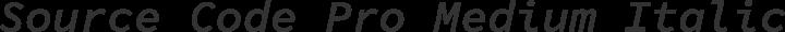 Source Code Pro Medium Italic free font