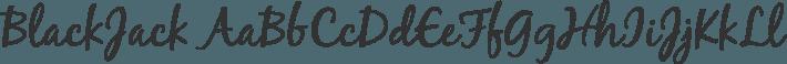 BlackJack font family by Typadelic